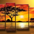 Beautiful Landscape Painting_Canvas Oil Painting Framed African Art (+ Frame) AR-041
