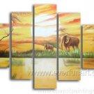 2013 Popular design Impression Landscape_Canvas Oil Painting Framed African Art (+ Frame) AR-044