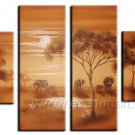Classical Twilight African Landscape_Canvas Oil Painting Framed African Art (+ Frame) AR-047