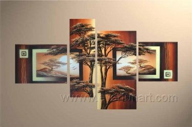 Canvas Oil Painting Framed African Art (+ Frame) AR-049