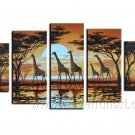 African Art Painting Of Giraffe_Canvas Oil Painting Framed African Art (+ Frame) AR-061