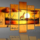 5 Pieces Painting_Canvas Oil Painting Framed African Art (+ Frame) AR-067