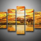 Great Painting _Canvas Oil Painting Framed African Art (+ Frame) AR-068