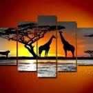 Harmonious Moment_Canvas Oil Painting Framed African Art (+ Frame) AR-071