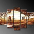 Classical Summer African Scenery_Canvas Oil Painting Framed African Art (+ Frame) AR-072