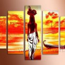 Classical African Woman_Canvas Oil Painting Framed African Art (+ Frame) AR-077