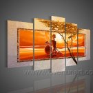 On The Way Home_Canvas Oil Painting Framed African Art (+ Frame) AR-084