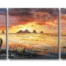 Wait For The Coming Day_Canvas Oil Painting Framed African Art (+ Frame) AR-088