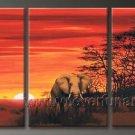 Elephant_Canvas Oil Painting Framed African Art (+ Frame) AR-089