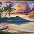 Summer Seascape _Framed Oil on Canvas Seascape Painting SE-010
