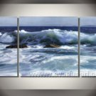 Natural The Big Blue_Framed Oil on Canvas Seascape Painting SE-016