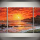 Red sea Water_Framed Oil on Canvas Seascape Painting SE-022