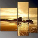 Golden Sea Scene_Framed Oil on Canvas Seascape Painting SE-034