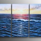 Beautiful Ocean_Framed Oil on Canvas Seascape Painting SE-048