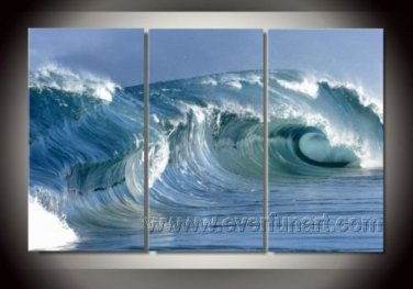 Power_Framed Oil on Canvas Seascape Painting SE-053