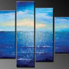 Blue Ocean Scenery ~ Framed Oil on Canvas Seascape Painting SE-071
