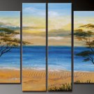 Blue Sky And Sea~Framed Oil on Canvas Seascape Painting SE-073