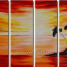 Nice Tree and Sea _Framed Oil on Canvas Seascape Painting SE-078