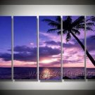 Ocean under the Purple Sky_ Framed Oil on Canvas Seascape Painting SE-157