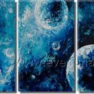Blue Bubbles Oil Painting On Canvas Wall Art Framed XD3-215