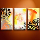 Atractive Flower Abstract Oil Painting On Canvas Wall Art Framed  XD3-216