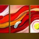 Bright And Colorful Abstract Oil Painting On Canvas With Frame  XD3-220