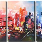 Modern Abstract City Oil Painting On Canvas Fine Art Framed XD3-234