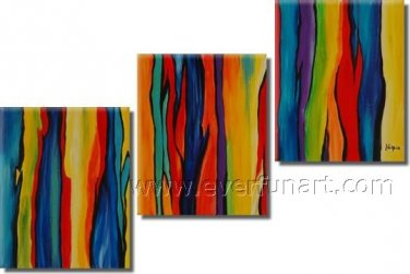 3 Panels New Design Attractive Absrtact Oil Painting On Canvas Fine Art Framed  XD3-238