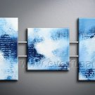 New Style Blue Abstract Oil Painting Canvas Art Wall Pictures (+Framed) XD3-255