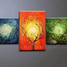 3 Trees Absrtact Oil Painting On Canvas Fine Art Framed XD3-256