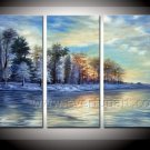 New!!!Perfect Winter Landscape Oil Painting On Canvas Wall Art Fremed  LA3-124