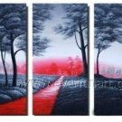 The Rose Road Landscape Oil Painting On Canvas Wall Art Fremed LA3-126