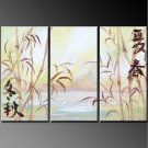 Chinese Style Oil Painting On Canvas Wall Art Fremed LA3-128