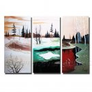 New Style Different Time Of  Landscape Oil Painting On Canvas Wall Art Fremed LA3-132