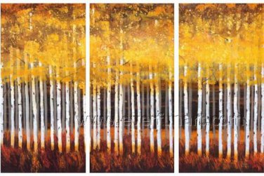 Autumn Trees Landscape Oil Painting On Canvas Wall Art Fremed LA3-133