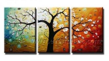 New Style Blosson Tree Landscape Oil Painting On Canvas Wall Decor Fine Art LA3-142