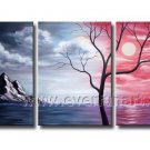 Nice Tree Landscape Oil Painting On Canvas Wall Decor Fine Art LA3-143