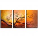 Chinese Style Blosson Tree Landscape Oil Painting On Canvas Wall Decor Fine Art LA3-146
