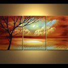 Landscape Oil Painting Autumn Yellow Tree Wall Decor Fine Art LA3-151