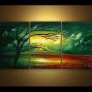 Impression Landscape Oil Painting Autumn Green Tree LA3-152