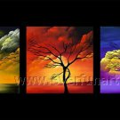 3 Pcs Different Kinds Of Tree Oil Painting On Canvas Wall Decor Fine Art LA3-154