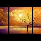 Impression Landscape Oil Painting Beautiful Sunrise Hot Sell LA3-156