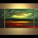 Impression Landscape Oil Painting The Forest Light Of Hope LA3-162