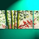 Chinese Style Painting Of Bamboo Landscape Oil Painting On Canvas Wall Decor Fine Art LA3-165