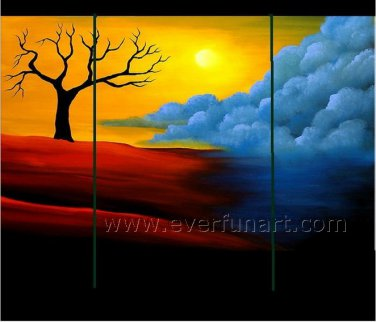 Colorful Tree Group Arts Home Decor Oil Painting On Canvas LA3-178
