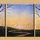 Classical Twilight Landscape Oil Painting On Canvas Wall Decor Fine Art LA3-181