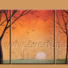 Sunrise In The Forest Landscape Oil Painting On Canvas Wall Decor Fine Art LA3-182