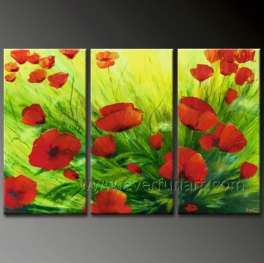 Red Blossom Flower Oil Painting On Canvas FL3-141
