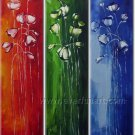 Three Colors Cheap Flower Oil Painting On Canvas Home Decor Wall Art FL3-151