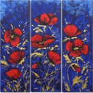Red Blossom Flowers Cheap Floral Oil Painting Home Decor Wall Art FL3-153